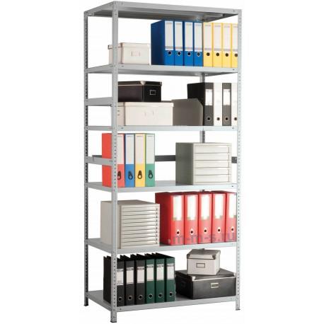 Металлический сборный архивный стеллаж 200*120*30 5 полок